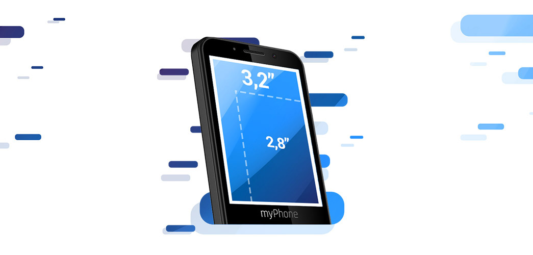 myPhone Up Smart - Przestronny ekran 3,2""